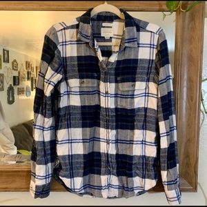 American Eagle Blue & White Super Soft Flannel